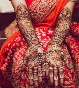 Indian Bride Wearing Mehendi