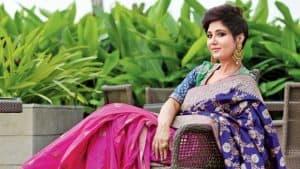 Indian Woman Wearing Silk Saree