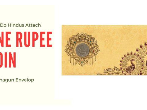 Reason Behind Having One Rupee Coin Attached On Shagun Envelop